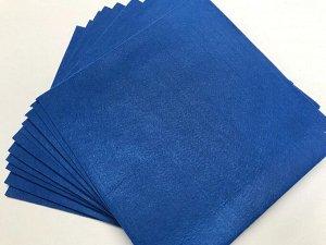 Фетр 1 мм жесткий 10 листов цвет синий
