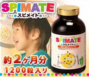 Японская спирулина для детей и всей семьи Spirulina Spimate от компании Japan Algae на 2 месяца, 1200 таблеток