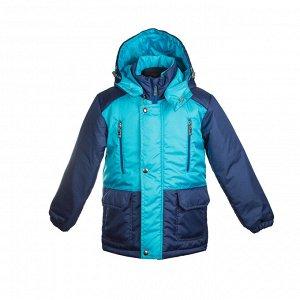 Куртка демисезон Арт. 04037 бюрюзовый-темно синий