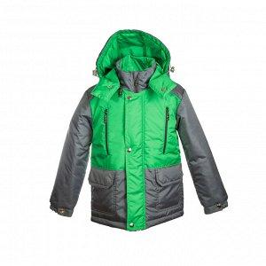 Куртка демисезон Арт. 04037 зеленый луг-серый