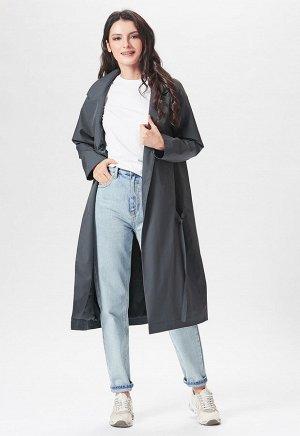 2058 серый Модный неутепленный удлиненный плащ в стиле бохо российского производства бренда Dimma. Застежка на пуговицы. Встречная складка на спинке.  Коллекция: Весна 2020 Артикул: 2058 Производи
