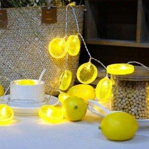 """Светодиодная гирлянда """"Лимонные дольки"""", 1,5 м"""