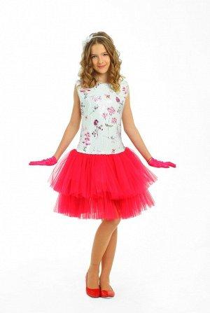 Платье Количество в упаковке: 1; Артикул: СС-ПЛ-19102; Цвет: РазноцветныйСкачать таблицу размеров                                                Нарядное платье на хлопковой подкладке с чуть приспущен
