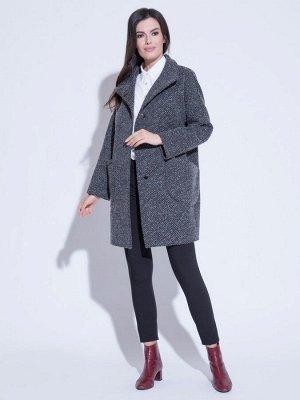 Пальто Серо-розовый. Рост:170, Ткань верха:60%шерсть;25%акрил;4%хлопок;11%полиэстер; Пальто демисезонное в классическом стиле. Застегивается на потайные пуговицы и кнопки, рукав цельнокроеный. Средн