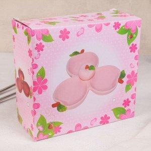 Менажница «Наливное яблочко», 3 ячейки, 18?8 см, цвет розовый