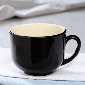 """Чашка """"Роза"""", чёрно-белая, 450 мл"""