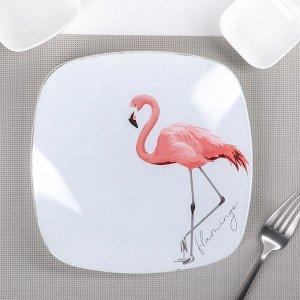 Тарелка «Фламинго», 20,5?20,5 см