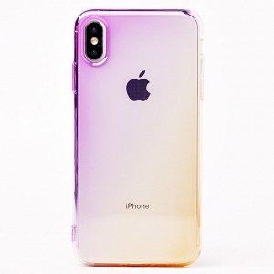"Чехол-накладка SC169 для ""Apple iPhone XS Max"" (violet/gold)"