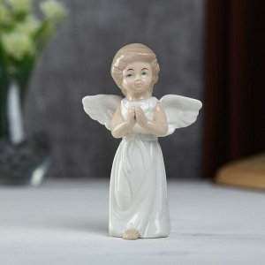 "Сувенир керамика ""Ангел в белом платьице молитва"" 14х5х8,5 см"