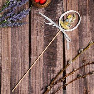 Декор на палочке «Пасхальный зайчик» 0.5?6?31 см