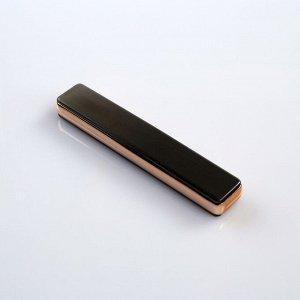 """Зажигалка электронная """"Успех"""" в подарочной коробке, USB, спираль, серая, 7х13 см"""