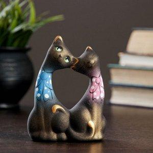"""Фигура """"Коты Влюбленные"""" с бантиками малые черные. 5?9?12см"""