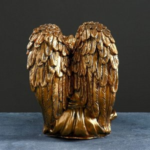 "Фигура ""Ангел девушка сидя"" большая. бронза 27х43х37см"