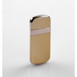 Зажигалка электронная в подарочной коробке, USB, спираль, золотая, 3х6.5 см