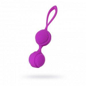 Вагинальные шарики с ресничками JOS NUBY, цвет фиолетовый, d=3,8 см