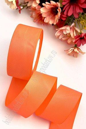Лента репсовая 4 см (SF-3452) ярко-оранжевый №142