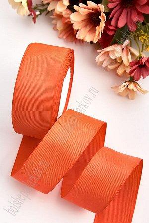 Лента репсовая 4 см (SF-3452) темно-оранжевый