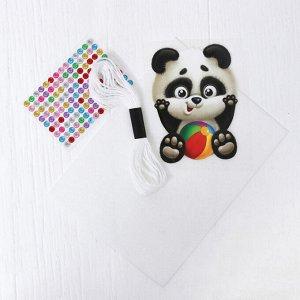 """Игрушка из фетра с термонаклейкой, набор для создания """"Панда"""""""