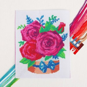 Вышивка крестиком «Розы» 25 х 20 см. Набор для творчества