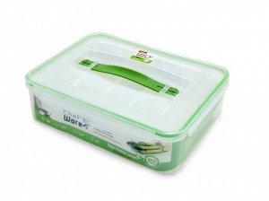 Пластиковый контейнер с замками и ручкой BPA FREE IS-091 3900 мл. размер 298*228*86 мм.
