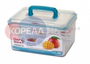 Тритановый контейнер с замками BPA FREE FL-063 4.5 л