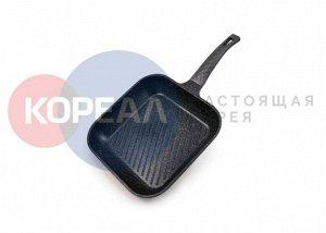 Сковорода Ecoramic IH квадратная ГРИЛЬ 28 см для индукц.плит с 2ст.мрам.антипригар.покрыт.без крышки