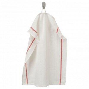 ТЕКЛА Полотенце кухонное, белый, красный, 50x65 см