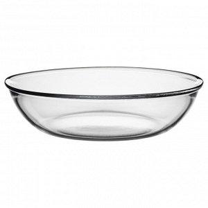 ОППЕН Тарелка, прозрачное стекло, 19 см