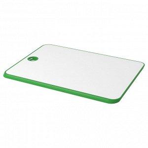 МАТЛЮСТ Разделочная доска, зеленый/белый, 34x24 см