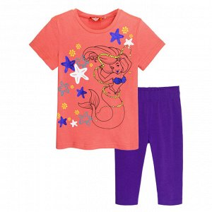 4156/коралл/фиолетовый Комплект для девочки