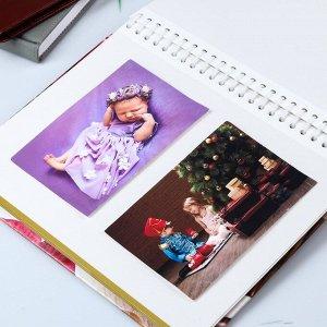 """Фотоальбом магнитный 20 листов """"Цветочный"""" МИКС 29х24,5х2,5 см"""