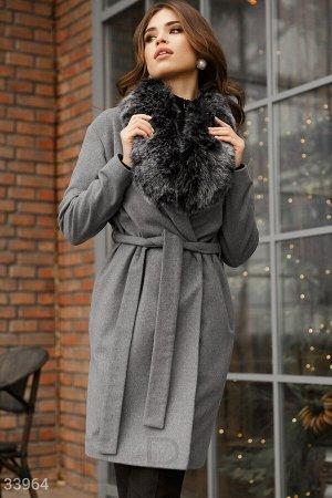 Пальто Gepur с меховым воротником