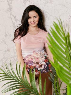 Фуфайка (футболка) жен BeGood  розовый