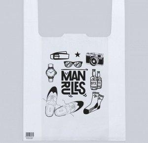 Пакет—майка Man rules 40/12*60 см