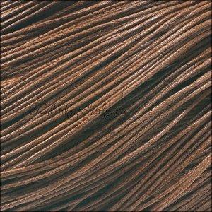 Шнур вощёный хлопковый, цвет кофе, толщина 1мм, в пасме 72м