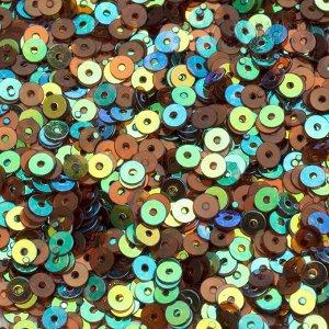 Пайетки 3мм мини, коричневые переливчатые, в 20гр, ок. 7000шт