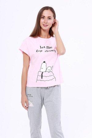 #91640 Пижама (Неженка) Розовый/серый