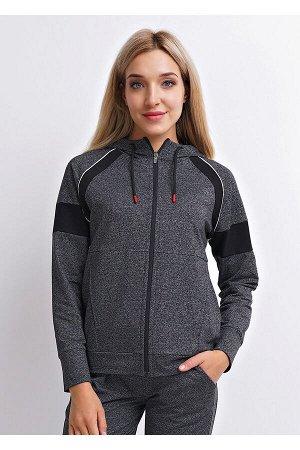 #86923 Куртка меланж т.серый