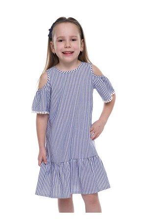#90570 Платье джинсовый/белый