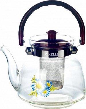 KL-3001 1,2 л Стеклянный заварочный чайник Kelli