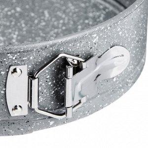 """SATOSHI Форма для выпечки круглая разъемная, угл.сталь, 24х6,8см, антипригарное покрытие """"Мрамор"""""""
