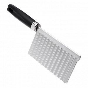 Нож-слайсер для фигурной нарезки, 19х6см, нерж.сталь, полипропилен