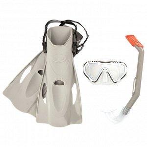 Набор для плавания Firefish, маска, трубка, ласты размер 37-41, от 7 лет, цвета МИКС, 25025 Bestway