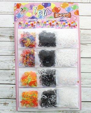 Резинка для волос силиконовая (цветные)(12 пакетиков)