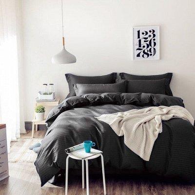 Роскошная постель - залог успешного дня! Новинки!🛌 — Страйп-сатин Однотонный 100% хлопок (и на резинке) — Постельное белье