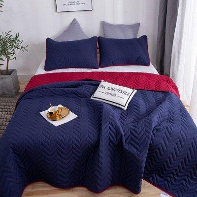 Роскошная постель - залог успешного дня! Новинки!🛌 — Однотонные двусторонние покрывала — Спальня и гостиная