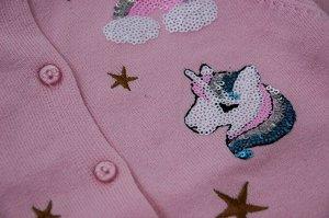 Розовая кофточка с единорогами