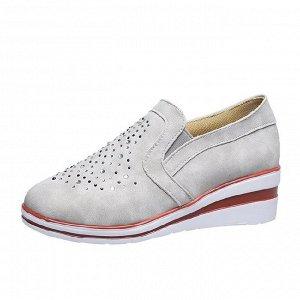 Туфли, ЦВЕТ серый с бежевой полосой