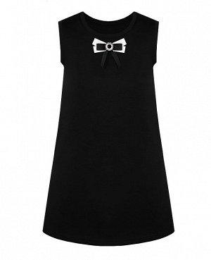 Школьный чёрный сарафан для девочки 82671-ДШ19