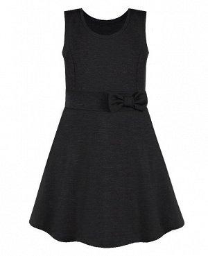 Серый школьный сарафан для девочек 82353-ДШ20